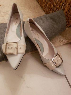 Zapatos formales sin cordones blanco Cuero