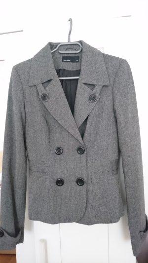 Vero Moda Tweed blazer grijs-donkergrijs Gemengd weefsel