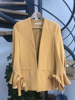 Mango Blazer long jaune