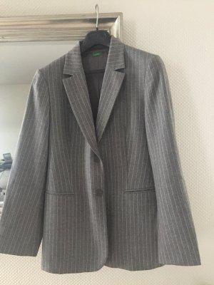 Benetton Blazer in lana grigio-grigio chiaro Lana
