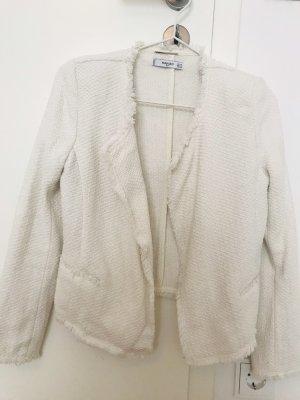 Mango Tweed Blazer white