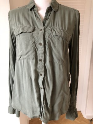 Business Bluse in khaki