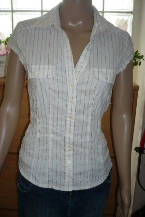 Business - Bluse mit metallisierten Streifen