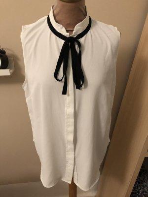 H&M Blouse sans manche blanc-noir