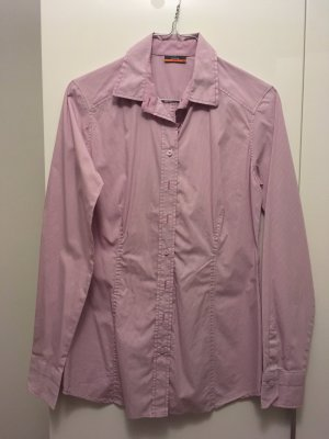 Business-Bluse rosa-weiss
