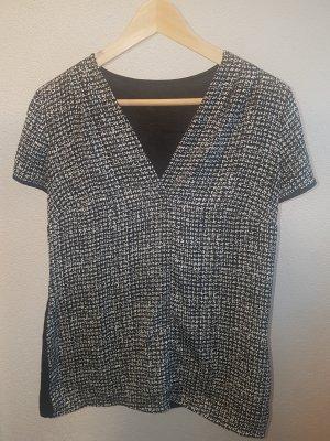 Orsay Short Sleeved Blouse white-black