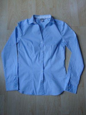 Business- Bluse von H&M, Slim fit, Hellblau, Gr. 34, neuwertig