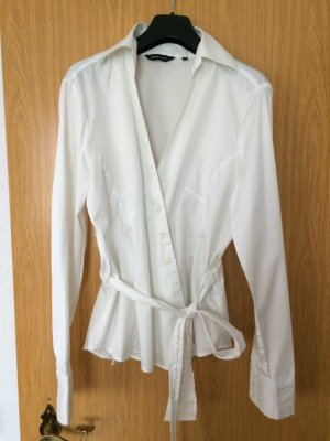 Business Bluse, Wickelbluse von Yaya Collection, Gr.40, weiss