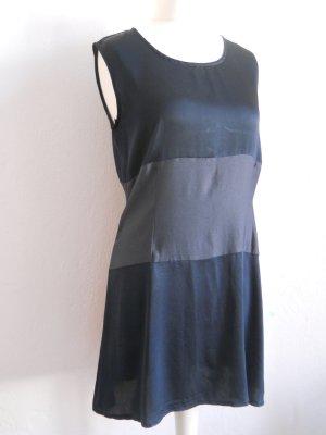 Robe épaules nues bleu foncé-gris