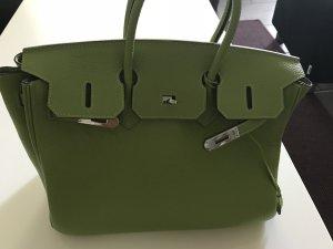 Business Handtasche grün Echtleder