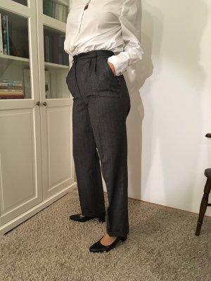 Pantalone a pieghe antracite
