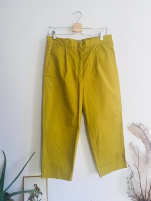 COS Trousers olive green-green grey cotton