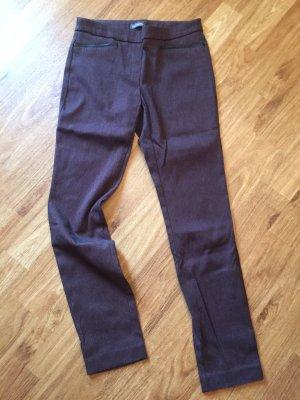 Van Heusen Studio Stretch broek bruin-paars-braambesrood