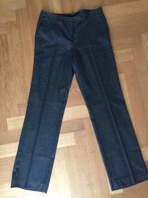 More & More Pantalon en laine gris-argenté tissu mixte