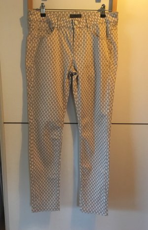 s.Oliver Drainpipe Trousers beige-white