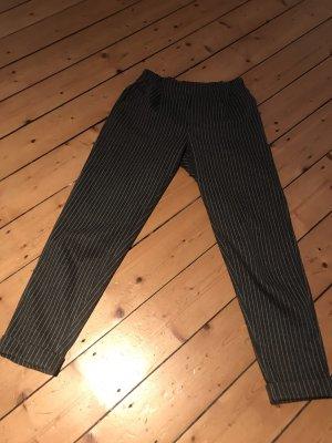 Zara Pantalone fitness grigio scuro-bianco