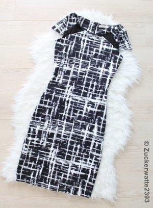 Business Kleid 34/XS Schwarz & Weiß