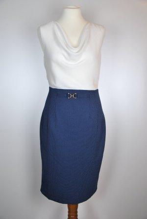 Orsay Dress white-blue viscose