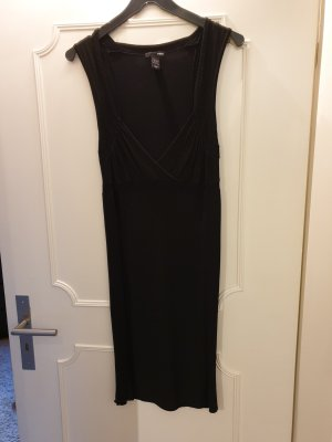 H&M Robe tube noir viscose