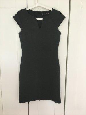 Mango Pencil Dress dark grey-grey polyester