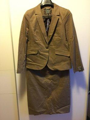 Business Kombi: schmaler brauner Rock - passend Blazer & Hose separat erhältlich