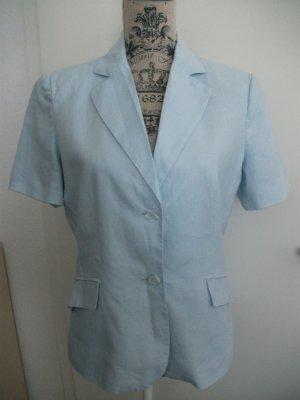 Business Leinen Blusen Blazer mit kurzem Arm, Gr. 36/38, hellblau