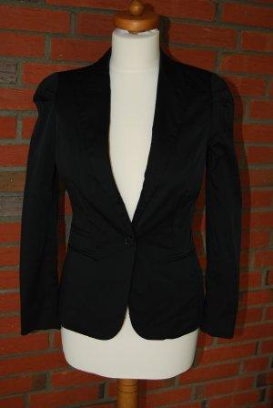 Business oder Party: Blazer von H&M glänzend in schwarz Größe 34/36