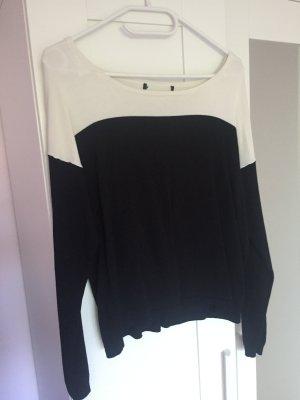 Business Pullover in schwarz weiß von Mango