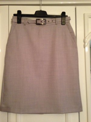 Benetton Pencil Skirt silver-colored