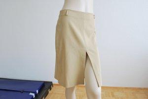 Business Rock, eng, beige mit weißen Streifen, hoher Schlitz vorne und hinten, made in Italy