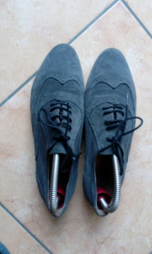 Zapatos formales gris-gris oscuro