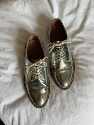 Zara Oxfords zilver-wit
