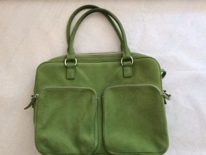 Chi Chi Fan Laptop bag green leather