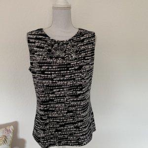 Calvin Klein Boothalsshirt zwart-wit