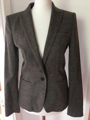 Business Tweed Blazer HUGO 34 XS braun meliert