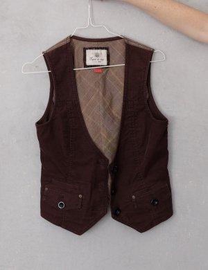 de.corp by Esprit Gilet tricoté brun foncé