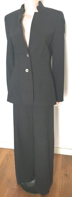 Escada Traje de pantalón gris antracita lana de esquila