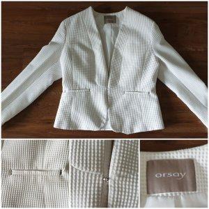 Orsay Blazer in lana bianco