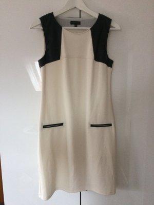Businesskleid Geschäftskleid Kleid formell schwarz-creme Größe 38
