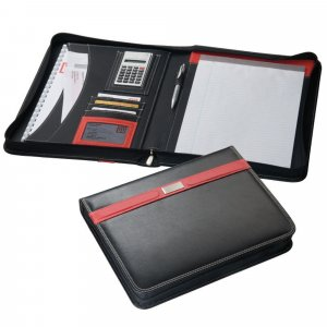 Writing Case black-red synthetic fibre