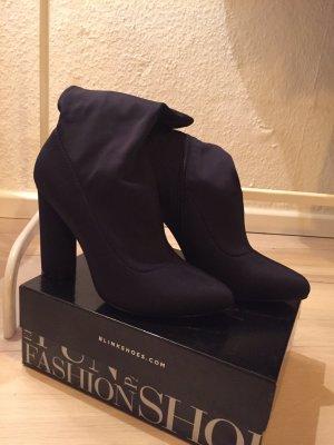 Blink Laarzen met hak zwart-donkerblauw