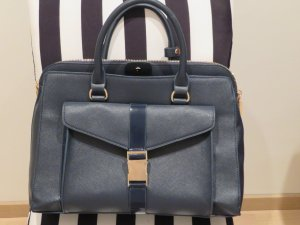 Zara Briefcase slate-gray imitation leather