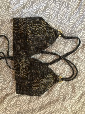 Bustier Top black-gold-colored
