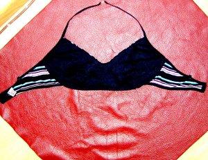 Bustier BH Cotton Schwarz pastel gestreift