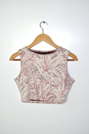Bustier / Crop Top / Cropped Top Zara floral