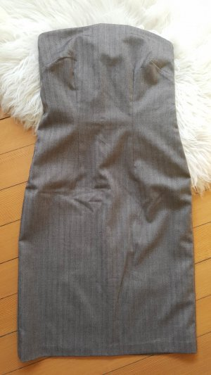 Robe bustier gris brun-taupe viscose