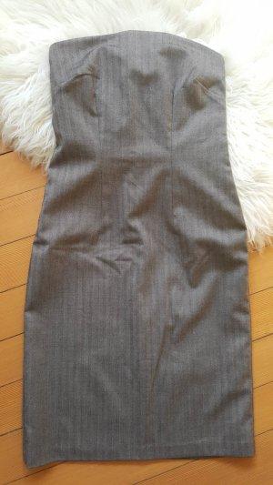 Vestido bustier marrón grisáceo-taupe Viscosa
