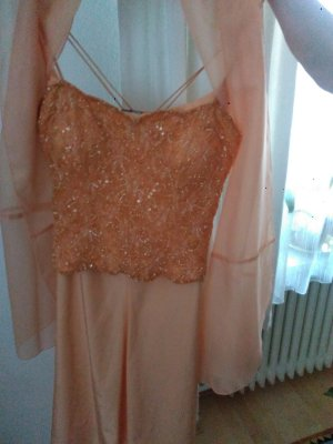 Angie Bustier Dress apricot-nude viscose