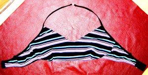 Bustier Neckholder Streifen Cotton Schwarz