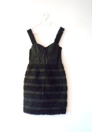 *Bustier-Top* -Kleid, Kleines Schwarzes mit VolantsLook & Pünktchen
